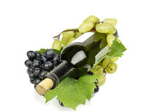 Bottle of wine cork closed. Stock Images
