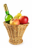 Bottle of wine and fruits Royalty Free Stock Photo