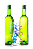 Bottle of wine and glass Royalty Free Stock Photo