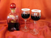 Bottle of wine and glass royalty free stock image