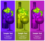 Bottle wine with grapes and glasses Royalty Free Stock Photos