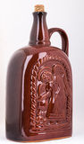 Bottle for wine made of baked clay Stock Photo