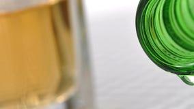 Bottle of wine stock video