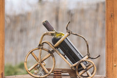 Bottle wine rack Royalty Free Stock Photography