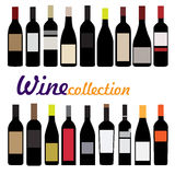 Bottle wine vector Royalty Free Stock Photography