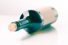 Bottle of wine on  white background Royalty Free Stock Photo