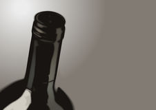 Bottle of Wine - wide Royalty Free Stock Image