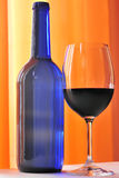 Bottle and wineglass Royalty Free Stock Images