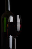 Bottle and wineglass. Royalty Free Stock Photography