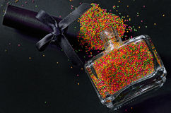 Bottle With Colorful Nail Polish Royalty Free Stock Photography