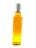 Bottle with yellow oil Stock Photos