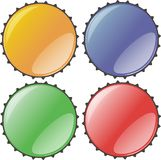 Bottlecap cap stoppers close Stock Photos