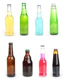 Bottled drink. A varied selection of bottled drink stock images