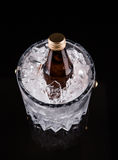 Bottled Drink And Ice Bucket III Royalty Free Stock Photo