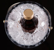 Bottled Drink And Ice Bucket IV Stock Photography