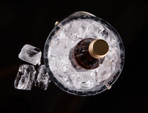 Bottled Drink And Ice Bucket VI Royalty Free Stock Images