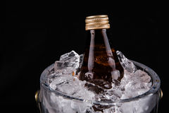 Bottled Drink And Ice Bucket VII Royalty Free Stock Image