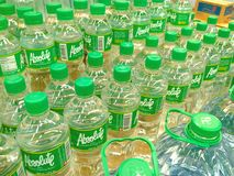 Bottled Drinking Water sold in a Grocery Royalty Free Stock Images