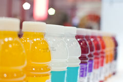 Bottled drinks Stock Image