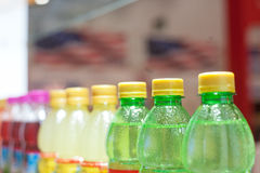 Bottled drinks Stock Images