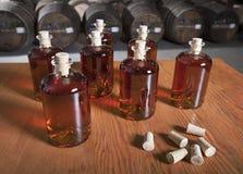Bottled liquor Royalty Free Stock Image