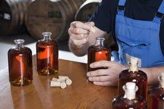 Bottled liquor Stock Photography