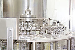Bottled mineral water production line Royalty Free Stock Photos