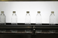 Bottled mineral water production line Stock Photography