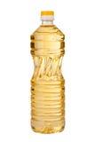 Bottled oil. Bottled sunflower oil over a white background Stock Photos
