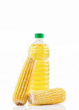 Bottled oil with corns Stock Image