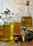 Bottled olive oil Stock Images