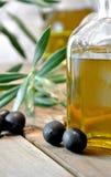Bottled olive oil Stock Photos