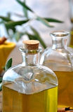 Bottled olive oil Royalty Free Stock Photo
