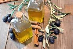 Bottled olive oil Stock Photo