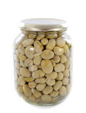 Bottled preserves of bean Stock Photography