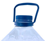 Bottled pure water. Bottled pure water in blue transparent plastic bottle Stock Images
