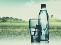 Bottled spring mineral water Stock Image