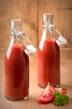 Bottled Tomato Juice Stock Image