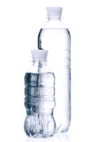 Bottled water. For healthy life over a white background royalty free stock photo