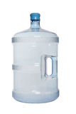 Bottled Water. A large jug of bottled water isolated over white royalty free stock image