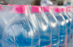 Bottled water bottles in plastic wrap Royalty Free Stock Photo