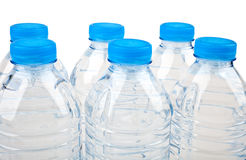 Bottled Water. Over a white background royalty free stock photography