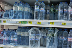 Bottled water for sale Royalty Free Stock Image
