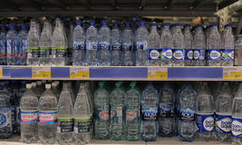 Bottled water for sale Royalty Free Stock Photo