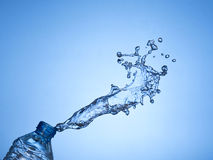 Bottled water splash. Royalty Free Stock Image