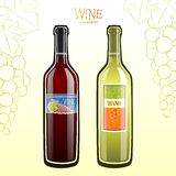 Bottled wine Stock Images