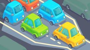 Free Bottleneck Traffic Jam. Road Dence Traffic On Motorway Or Highway. Different Car On Road. Stock Photos - 173521433