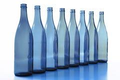 Bottles. Empty bottles on  white background Stock Photo