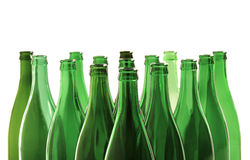 Bottles. Empty bottles on white background Royalty Free Stock Photos