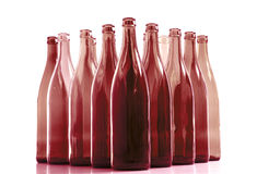 Bottles. Empty bottles on white background Royalty Free Stock Photo